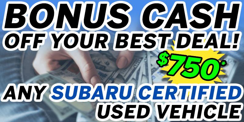 GOLDSTEIN SUBARU BONUS CASH | Goldstein Subaru Specials